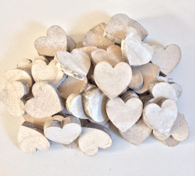 White wash hartjes onbestempeld 0 60 per stuk for Decoratie stuk om te leven